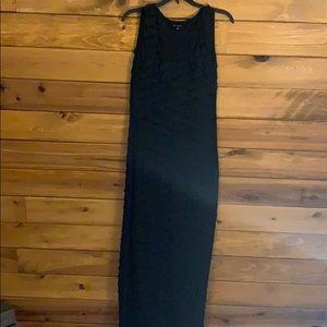 Max Edition long black dress